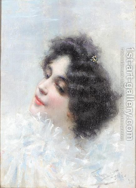 A spanish beauty by Alberto Torres Fuster - Reproduction Oil Painting