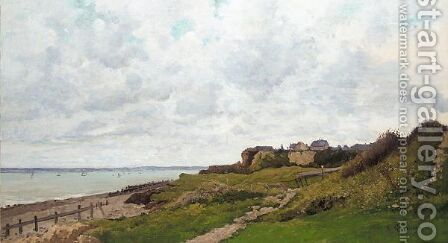 By the sea, Normandy by Jean Baptiste Antoine Guillemet - Reproduction Oil Painting