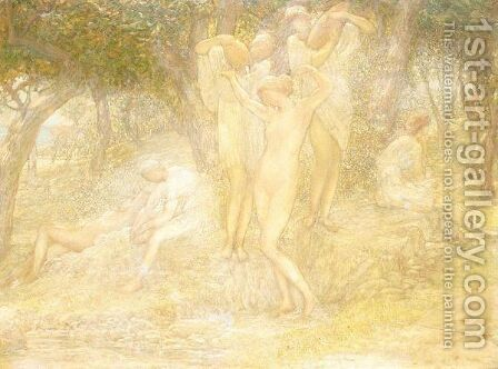 The bathers by Charles Albert Pesnelle - Reproduction Oil Painting