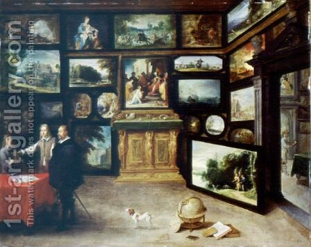 The Interior Of A Picture Gallery by David The Younger Teniers - Reproduction Oil Painting