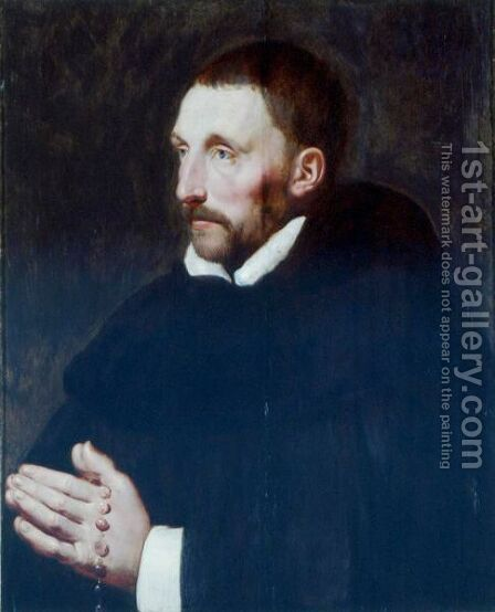 Portrait Of A Cleric, Thought To Be Padre De Buzzara by (after) Sir Peter Paul Rubens - Reproduction Oil Painting