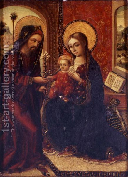 Holy Family by Italian Unknown Master - Reproduction Oil Painting