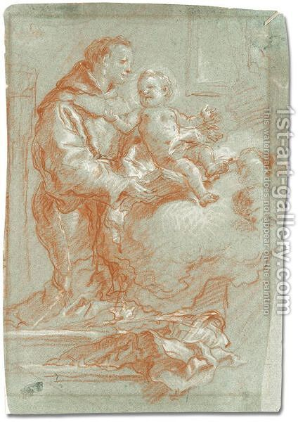 St. Anthony of Padua with the christ child by Giovanni Battista Tiepolo - Reproduction Oil Painting