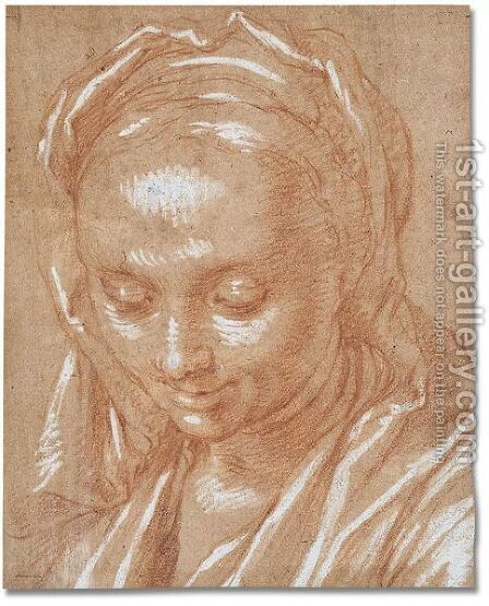 Head of women by Abraham Bloemaert - Reproduction Oil Painting