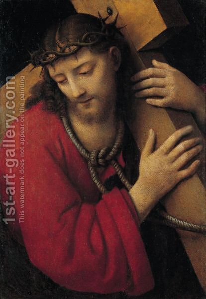 Christ Carrying The Cross by Andrea Solario - Reproduction Oil Painting
