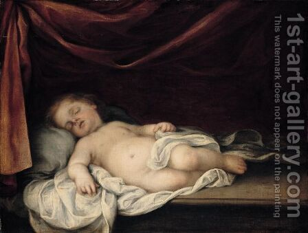 The Sleeping Christ Child 2 by (after) Murillo, Bartolome Esteban - Reproduction Oil Painting