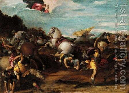 The Conversion Of Saint Paul by Ippolito Scarsella (see Scarsellino) - Reproduction Oil Painting