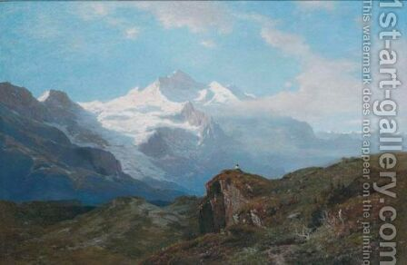 En Montagnes by Auguste Louis Veillon - Reproduction Oil Painting