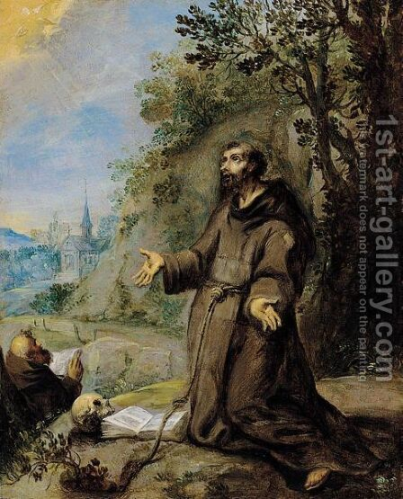 Saint Francis by (after) Jan Soens - Reproduction Oil Painting