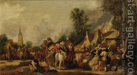 The Sack Of A Village by (after) Pieter De Molyn - Reproduction Oil Painting