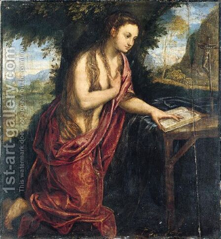 The Penitent Magdalene by (after) Paolo Fiammingo - Reproduction Oil Painting