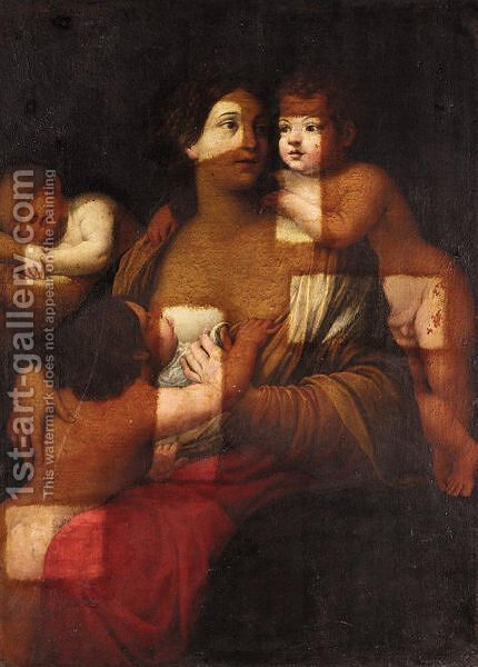Charity by (after) Guido Reni - Reproduction Oil Painting
