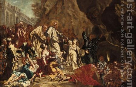 The Raising Of Lazarus by (after) Francesco Solimena - Reproduction Oil Painting