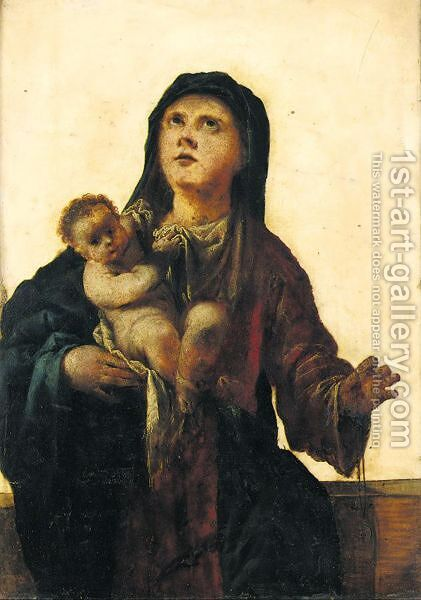 The Madonna And Child by (after) Francesco Maffei - Reproduction Oil Painting
