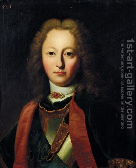 A Portrait Of Charles De Bourbon (1701-1773) by Jacques-Joseph Lecurieux - Reproduction Oil Painting