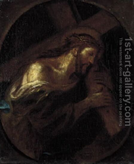 Cristo Portacroce by Italian School - Reproduction Oil Painting
