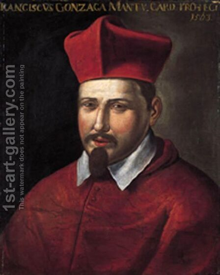 Ritratto Del Cardinale Francesco Gonzaga by Italian School - Reproduction Oil Painting