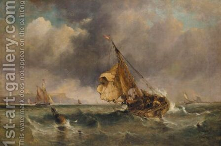 Off Dover by (after) Edward William Cooke - Reproduction Oil Painting