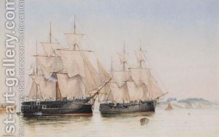 Torpedo Boats by Auguste Ballin - Reproduction Oil Painting