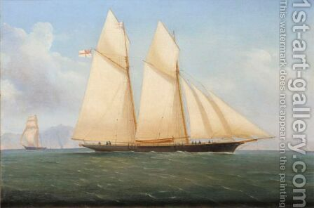 A Schooner Of The Royal Yacht Squadron by de Simone Tommaso - Reproduction Oil Painting