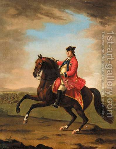 Equestrian Portrait Of H.R.H. William Augustus, Duke Of Cumberland (1721-1765) by David Morier - Reproduction Oil Painting