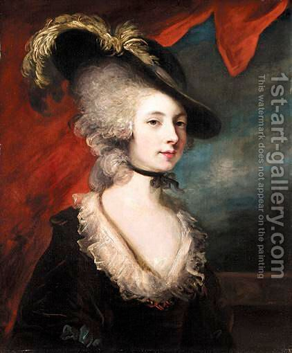 Portrait Of Mary Robinson (1758-1800) by (after) Sir Joshua Reynolds - Reproduction Oil Painting