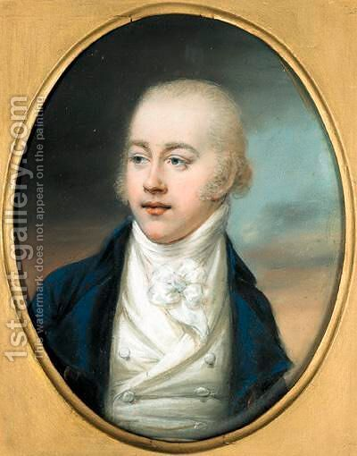 Portrait Of Thomas Earl Of Longford by Hugh Douglas Hamilton - Reproduction Oil Painting