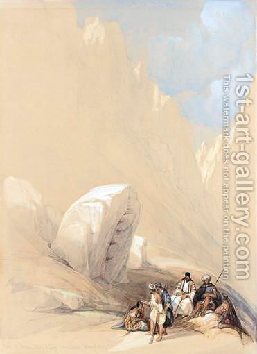 The Rock Of Moses, Wady-El-Leja, Mount Horeb by David Roberts - Reproduction Oil Painting