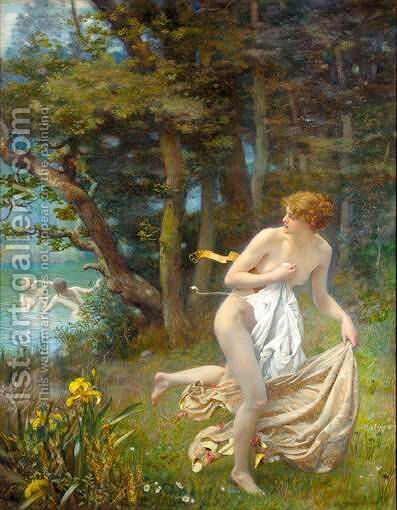 A Coward by Edward Robert Hughes R.W.S. - Reproduction Oil Painting