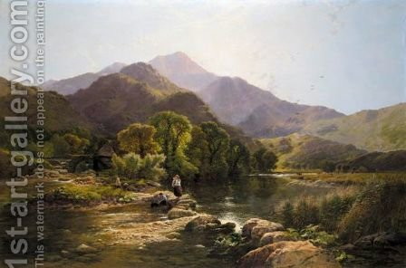 On The Hills, North Wales by Henry John Boddington - Reproduction Oil Painting
