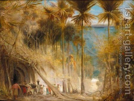 Ali Baba And The Forty Thieves by Albert Goodwin - Reproduction Oil Painting