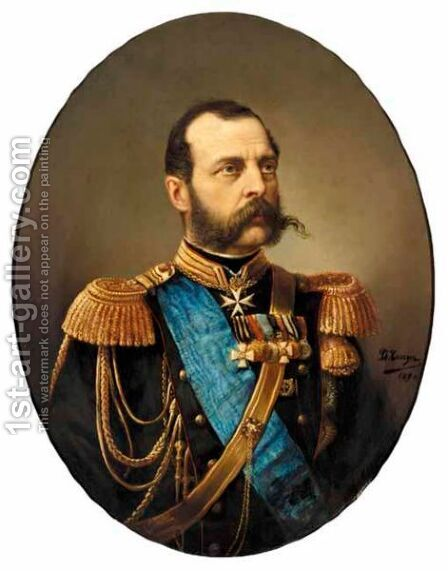Portrait Of Tsar Alexander II by D. Rossyn - Reproduction Oil Painting