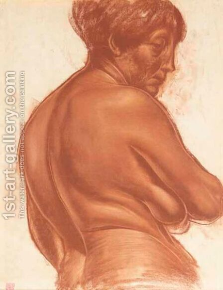 Female Nude by Alexander Evgenievich Yakovlev - Reproduction Oil Painting