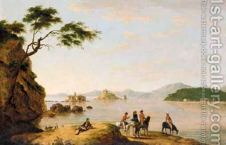 A View Of Corfu by (after) Joseph Schranz - Reproduction Oil Painting
