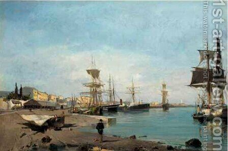 Admiring The Ships by Constantinos Volanakis - Reproduction Oil Painting