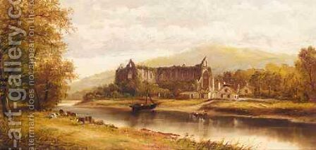 Tintern Abbey by Henry Hotham Harris - Reproduction Oil Painting