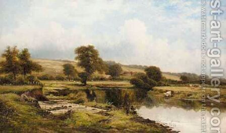Knoles Hill On Trent, Notts by Carl Brennir - Reproduction Oil Painting