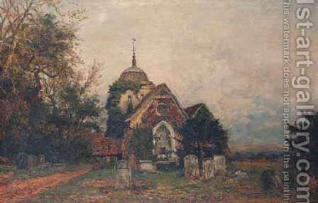 The Old Parish Church Of Albury by Benjamin Williams Leader - Reproduction Oil Painting