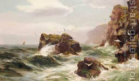 A Scottish Headland by Alex Mortimer - Reproduction Oil Painting