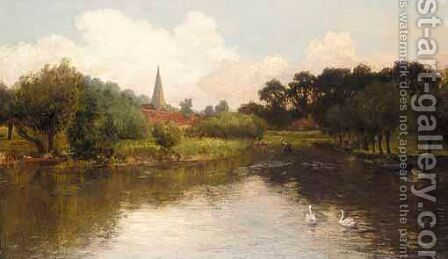 Cleaver Church Near Windsor by Charles Smith - Reproduction Oil Painting