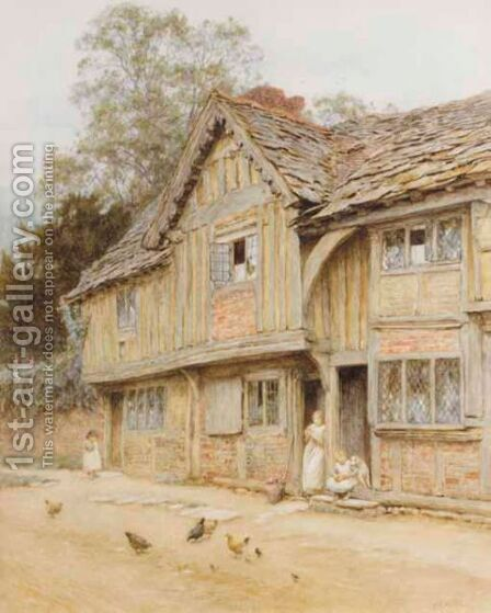 At West Tarring Near Worthing by Helen Mary Elizabeth Allingham, R.W.S. - Reproduction Oil Painting