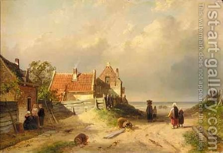 The Path To The Sea by Charles Henri Leickert - Reproduction Oil Painting
