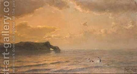 Dolphins by Benes Knüpfer - Reproduction Oil Painting