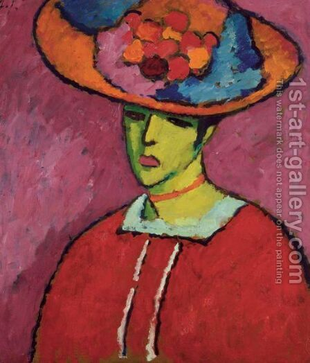 Schokko (Schokko Mit Tellerhut) by Alexei Jawlensky - Reproduction Oil Painting