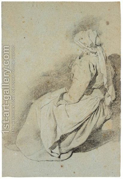 Study Of A Seated Woman, Seen From The Side by Cornelis (Pietersz.) Bega - Reproduction Oil Painting