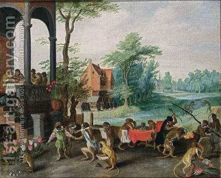 An Allegory Of The Tulipmania by Jan, the Younger Brueghel - Reproduction Oil Painting