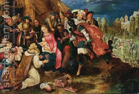 The Adoration Of The Magi 2 by (after) Kasper Or Gaspar Van Den Hoecke - Reproduction Oil Painting
