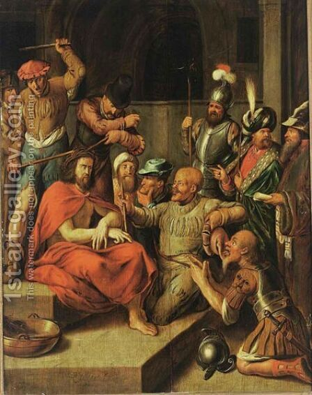 The Flagellation Of Christ by Jan Adriansz van Staveren - Reproduction Oil Painting