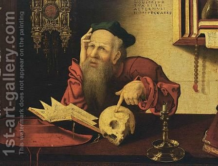 St. Jerome In His Study by (after) Cleve, Joos van - Reproduction Oil Painting
