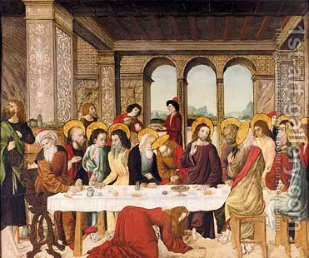 The Last Supper 2 by Italian School - Reproduction Oil Painting
